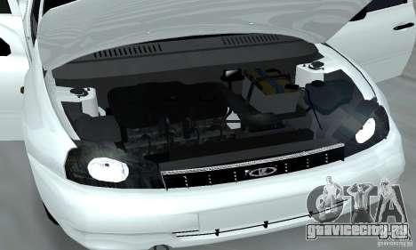 Lada Kalina Hatchback Stock для GTA San Andreas вид изнутри