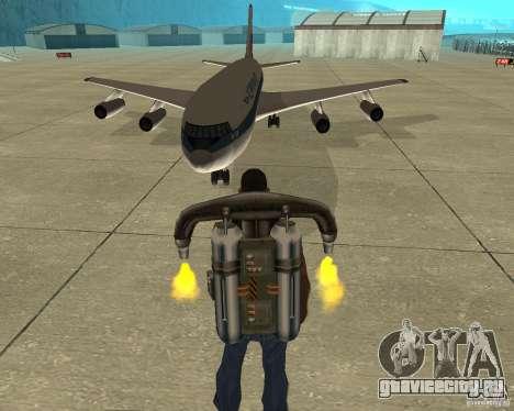 Ил-86 для GTA San Andreas вид сзади