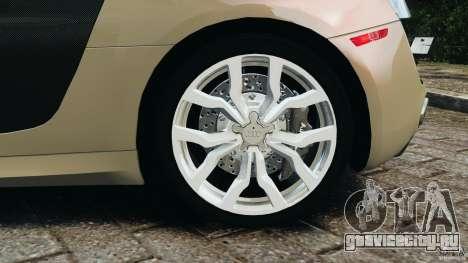 Audi R8 V10 2010 для GTA 4 вид сверху