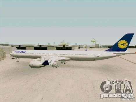 Airbus A-340-600 Lufthansa для GTA San Andreas вид справа