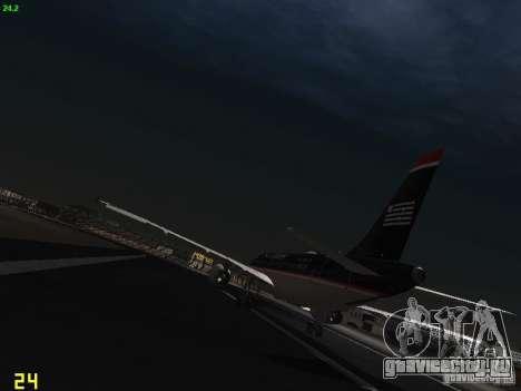 Airbus A319 USAirways для GTA San Andreas вид сзади слева