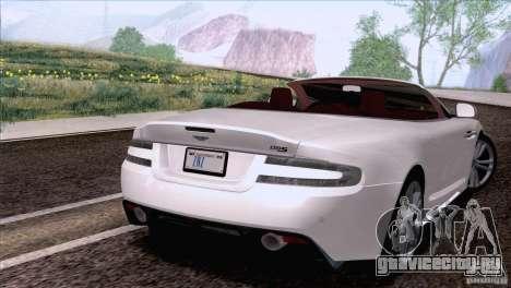 Aston Martin DBS Volante 2009 для GTA San Andreas вид слева