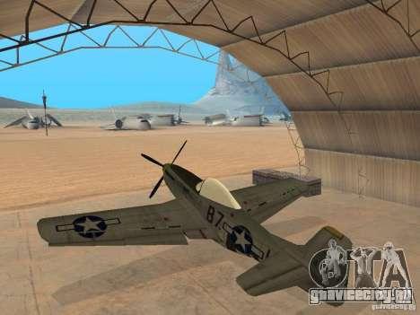 P-51 Mustang для GTA San Andreas вид слева