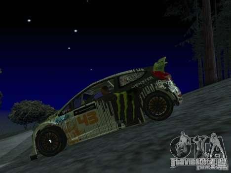 Ford Fiesta Ken Block WRC для GTA San Andreas вид сзади