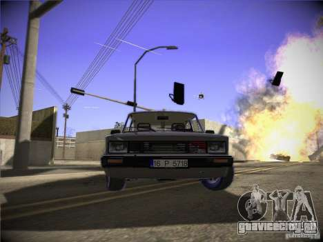 Tofas 124 Serçe для GTA San Andreas вид слева