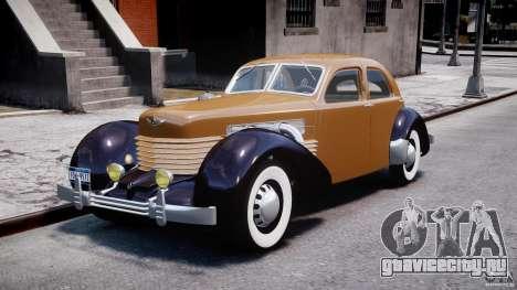Cord 812 Charged Beverly Sedan 1937 для GTA 4
