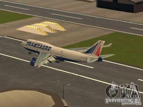 Boeing 747-400 для GTA San Andreas вид сзади слева
