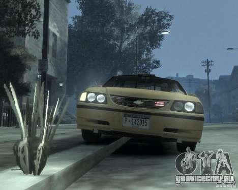 Chevrolet Impala 2003 Taxi для GTA 4 вид сбоку