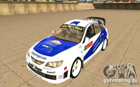 Subaru Impreza WRX STi с новыми винилами для GTA San Andreas салон