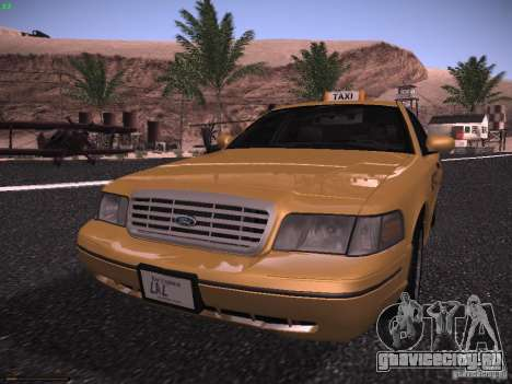 Ford Crown Victoria Taxi 2003 для GTA San Andreas вид слева