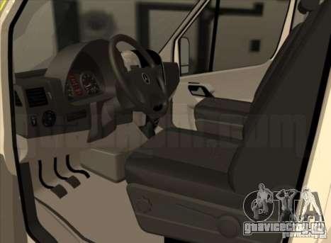 Mercedes Benz Sprinter SAAS для GTA San Andreas вид сзади слева