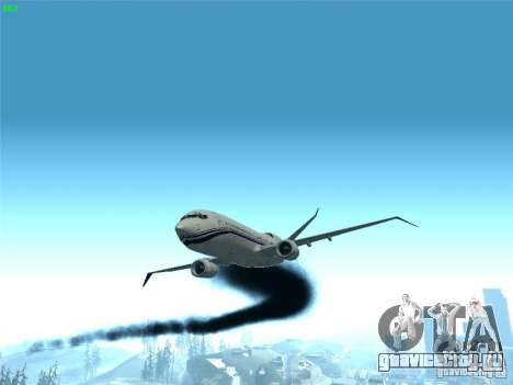 Boeing 737 Iron Man Bussines Jet для GTA San Andreas вид сбоку