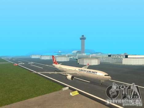 Airbus A330-300 Turkish Airlines для GTA San Andreas вид слева
