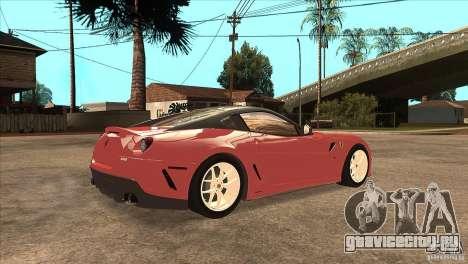 Ferrari 599 GTO 2010 V1.0 для GTA San Andreas вид справа