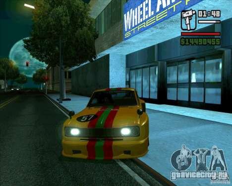 Nissan Skyline 2000gtr для GTA San Andreas вид слева