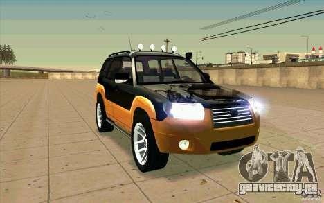 Subaru Forester Cross Sport 2005 для GTA San Andreas вид сбоку