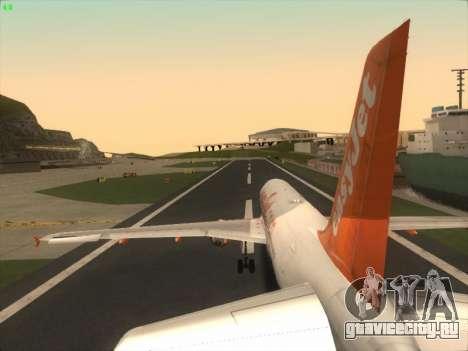Airbus A320-214 EasyJet для GTA San Andreas двигатель