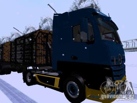 Mercedes Benz Actros MP4 для GTA San Andreas вид сзади слева