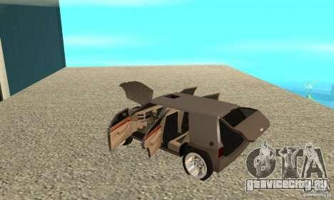 Jemala для GTA San Andreas вид изнутри