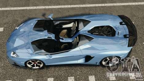 Lamborghini Aventador J 2012 для GTA 4 вид справа