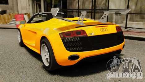 Audi R8 Spyder для GTA 4 вид сзади слева