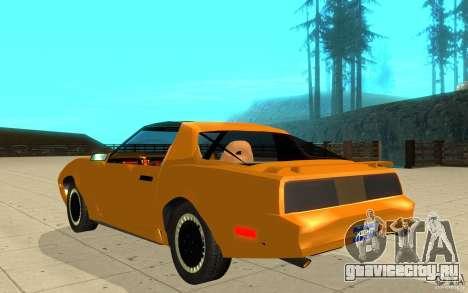 Pontiac Firebird 1989 K.I.T.T. для GTA San Andreas вид сзади слева