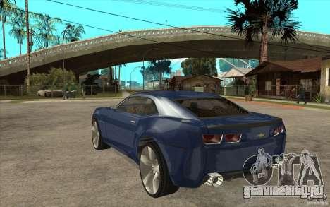 Chevrolet Camaro Concept Tunable для GTA San Andreas вид сзади слева