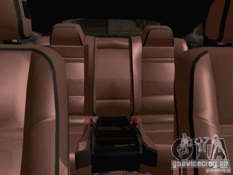 BMW X6 LT для GTA San Andreas вид изнутри