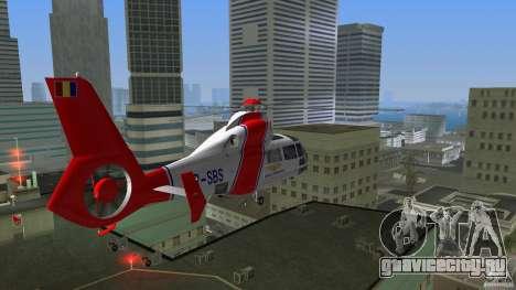 Eurocopter As-365N Dauphin II для GTA Vice City вид изнутри