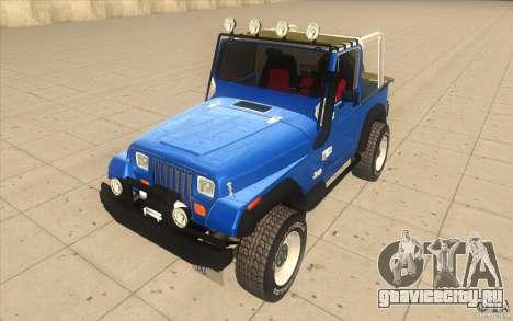 Jeep Wrangler 4.0 Fury 1986 для GTA San Andreas