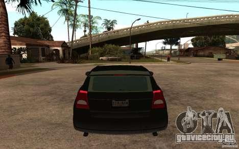 Dodge Caliber для GTA San Andreas вид сзади слева
