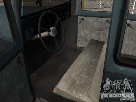 Автомобиль второй мировой войны для GTA San Andreas вид изнутри