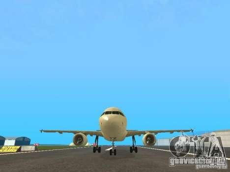 Airbus A319 Air Canada для GTA San Andreas вид сбоку