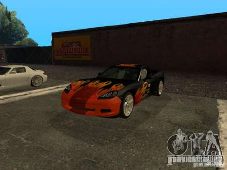 Chevrolet Corvette C6 для GTA San Andreas вид сбоку
