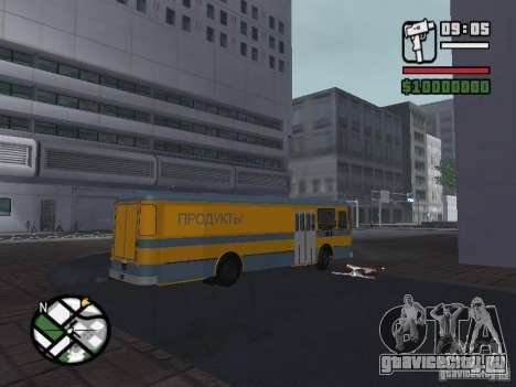 ЛиАЗ 677м грузовой для GTA San Andreas вид сзади слева