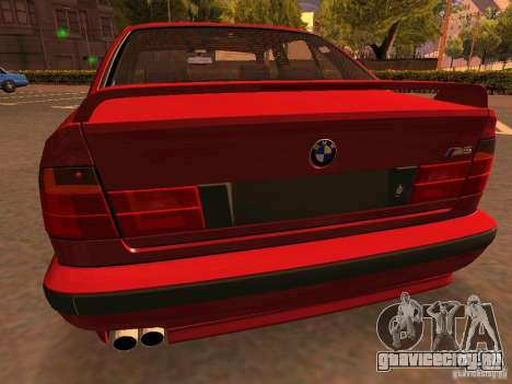 BMW M5 E34 для GTA San Andreas вид снизу