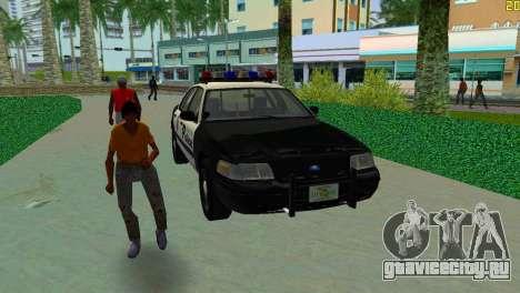 Ford Crown Victoria Police 2003 для GTA Vice City вид сзади