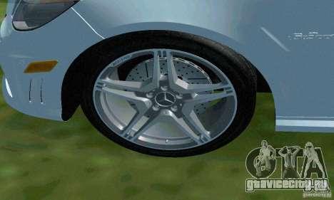 Mercedes-Benz E63 ДПС для GTA San Andreas вид снизу