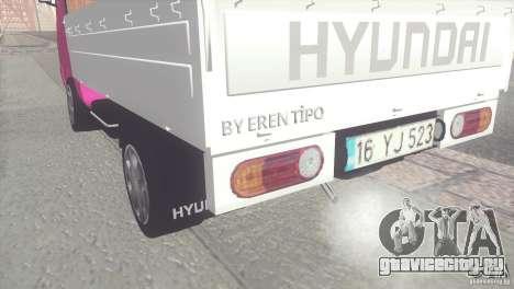 Hyundai H100 Kamyonet для GTA San Andreas вид сзади слева
