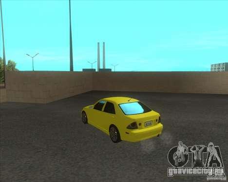 Lexus IS300 tuning для GTA San Andreas вид сзади слева