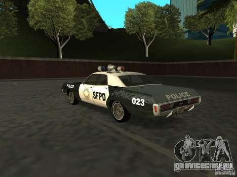 Dodge Polara Police 1971 для GTA San Andreas вид слева