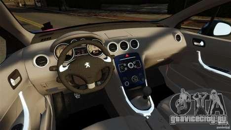 Peugeot 308 2007 для GTA 4 вид сзади