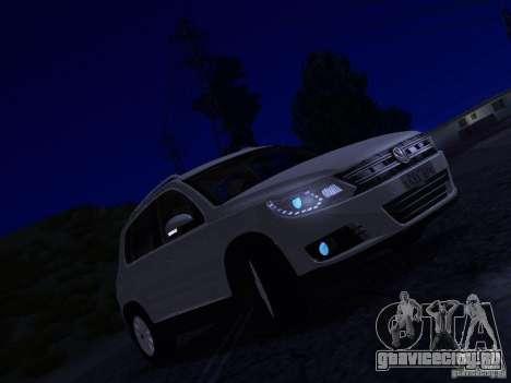 Volkswagen Tiguan 2.0 TDI 2012 для GTA San Andreas вид снизу