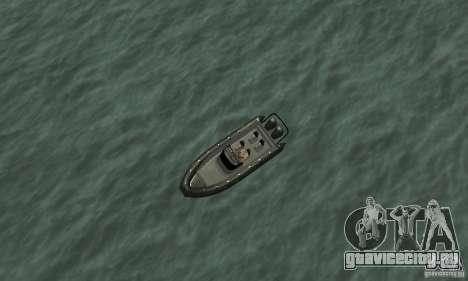 GTAIV Dinghy для GTA San Andreas вид справа