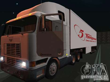 International Navistar 9800 для GTA San Andreas вид изнутри