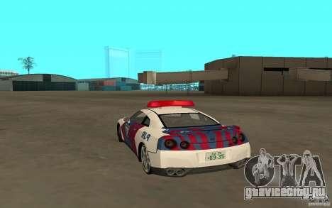 Nissan GT-R R35 Indonesia Police для GTA San Andreas вид слева