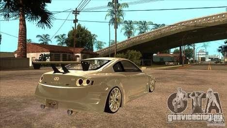 Infiniti G35 для GTA San Andreas вид справа