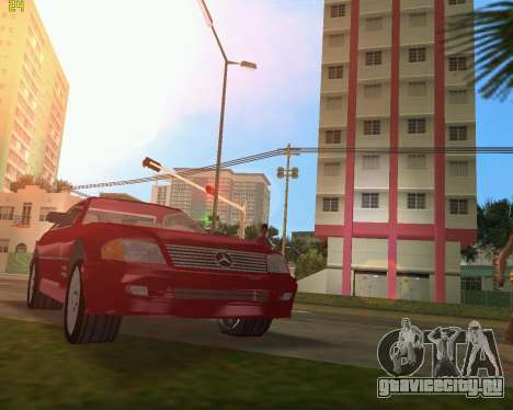 Mercedes-Benz SL600 1999 для GTA Vice City вид сзади