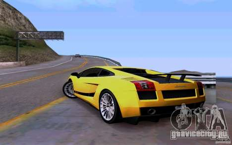 Lamborghini Gallardo Superleggera для GTA San Andreas вид сзади слева