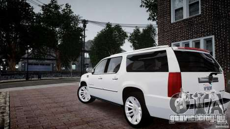 Cadillac Escalade ESV для GTA 4 вид слева